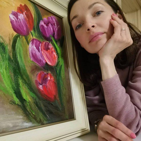 Наталия Антонова со своей картиной