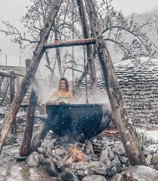 Ксения Бородина в бане