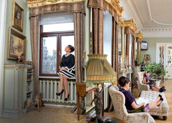 Анастасия Мельникова с дочерью в своей квартире
