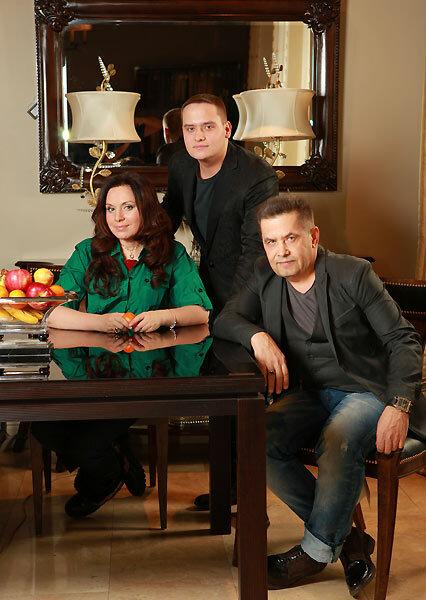 Николай Расторгуев с женой и сыном