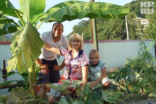 Святослав Ещенко с женой Ириной и сыном