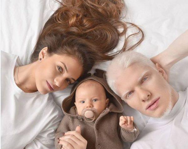 Бера Иванишвили с новорожденным сыном