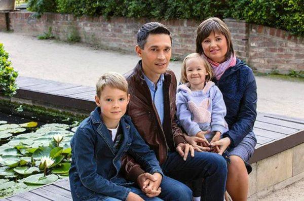 Сергей Малозёмов с семьей