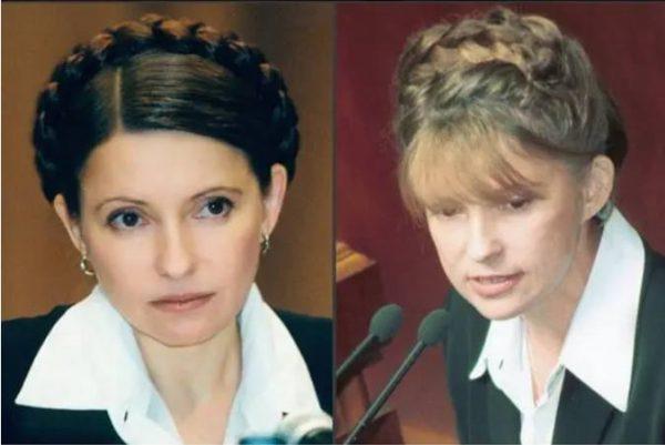 Справа - первая коса Юлии Тимошенко