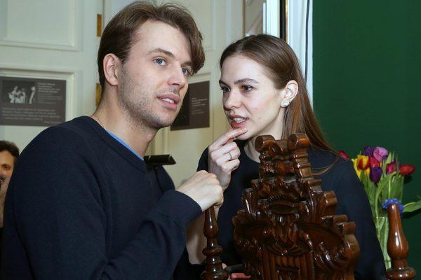 Андрей Миронов-Удалов с женой