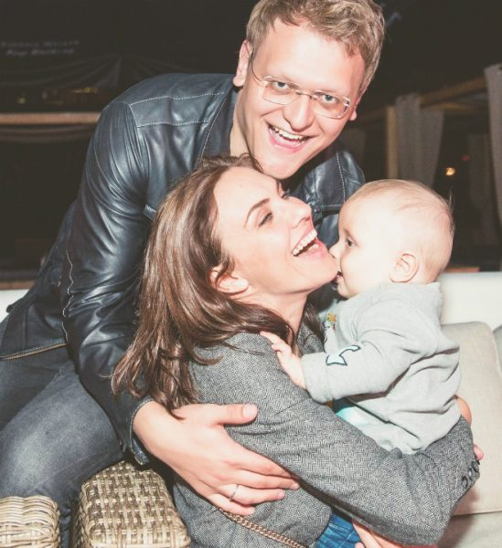 Надя Ручка и Денис Боярко с сыном