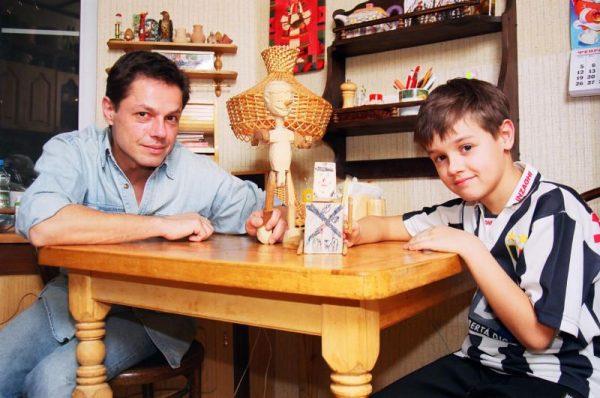 Игорь Скляр с сыном