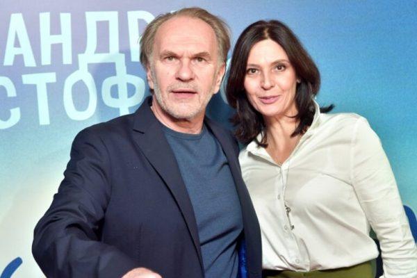 Алексей Гуськов с женой