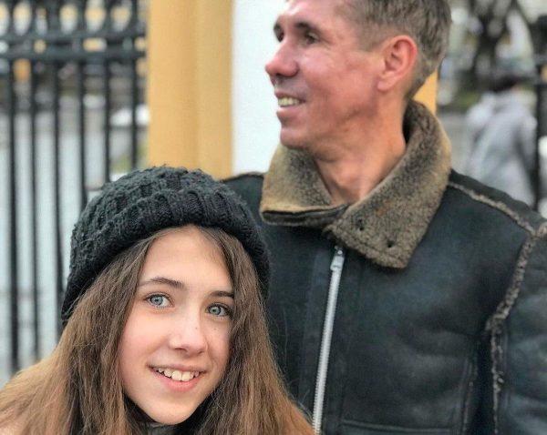 Панин с дочкой Аней