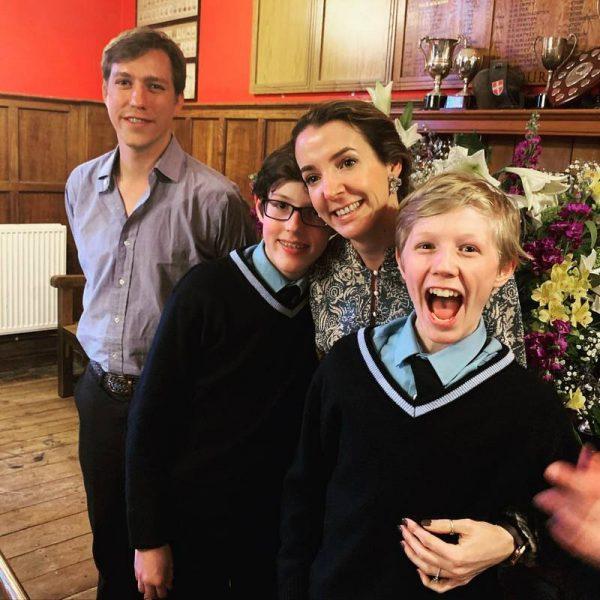 12-го марта Луи с семьей отпраздновал 14-летие сына Габриэля