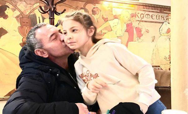 Максим Дрозд и дочь Софья