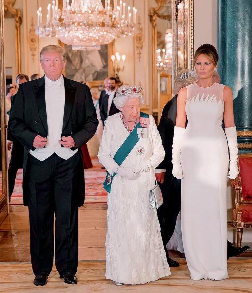 Дональд Трамп. Мелания Трамп, королева Елизавета,