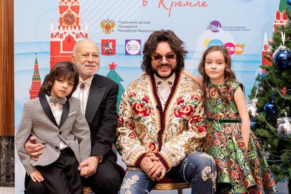 Филипп и Бедрос Киркоровы с детьми