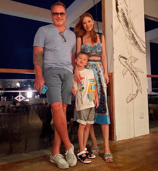 Владимир Пресняков и Наталья Подольская с сыновьям