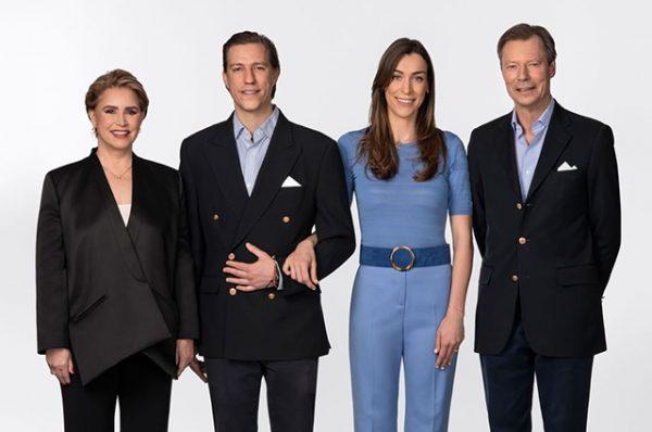 Герцогиня Мария Тереза, принц Луи, Скарлетт-Лорен Сирг и герцог Анри