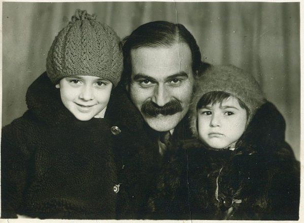 Каха Кавсадзе с детьми