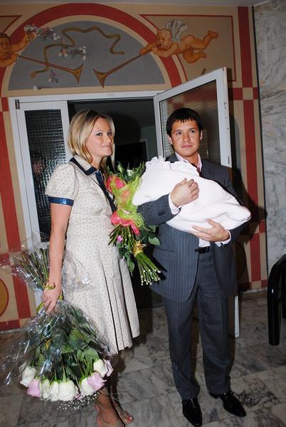 Дана Борисова с бывшим мужем и новорожденной дочкой. Фото Инстаграм