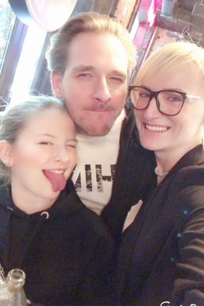 Ксения Бик с дочкой и новым возлюбленным