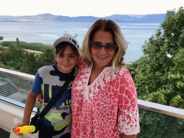 Елена Пинджоян с сыном Кириллом