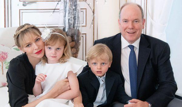 княгиня Шарлен, князь Альбер, Жак и Габриэлла