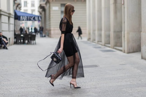 Fashionable transparent dress 2021