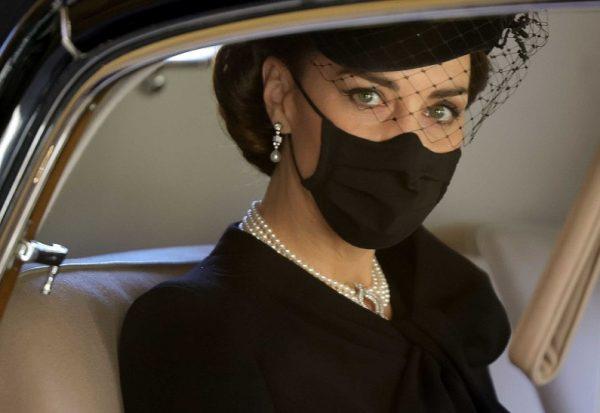 Кейт Миддлтон на похоронах