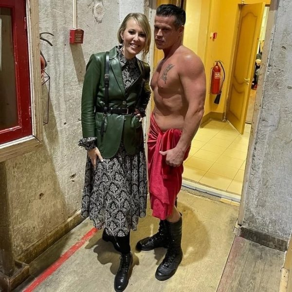 "Ксения Собчак на премьере спектакля ""Кармен"""