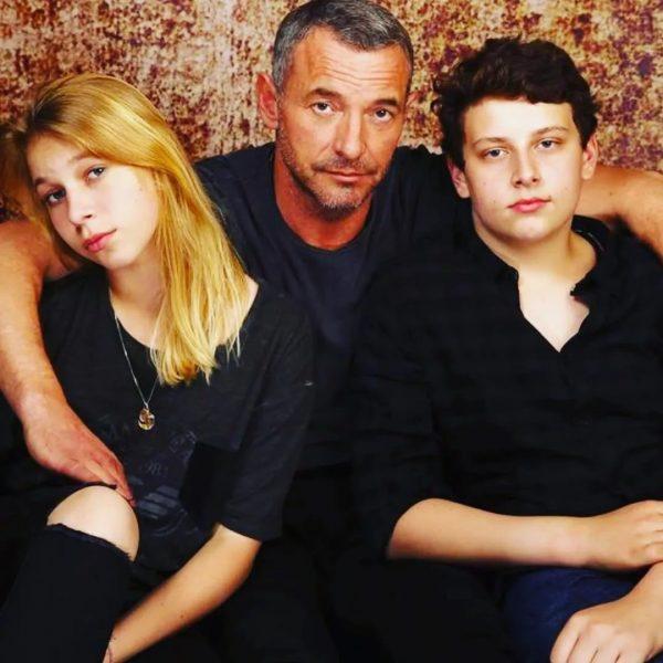 Максим Дрозд с дочкой Марией и сыном Егором