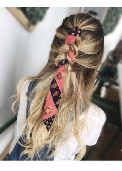 In a braid bandana