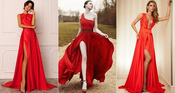 Red evening dresses 2021-2022