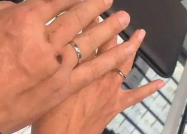 Обручальные кольца Лебедева и Пановой