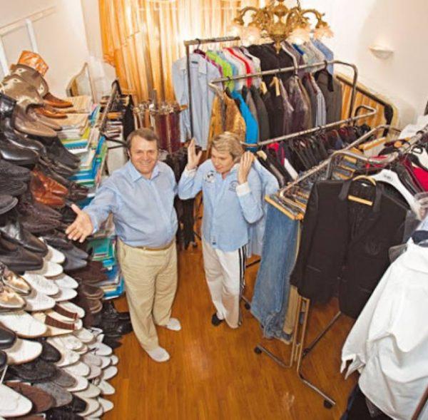 Одна из гардеробных Баскова. Фото