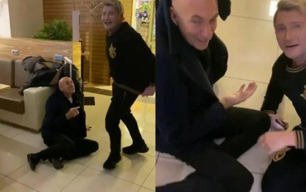 Скрины с видео избиения Крутого. Источник: Инстаграм Сергея Лазарева