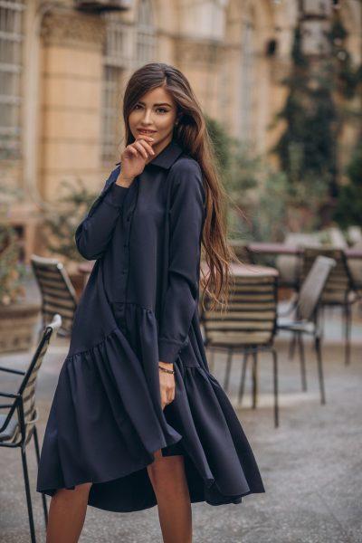 Stylish burgundy dress