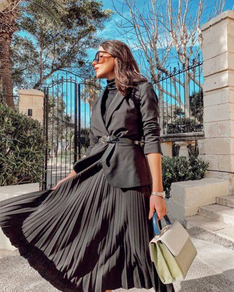 Stylish pleated skirts 2021-2022