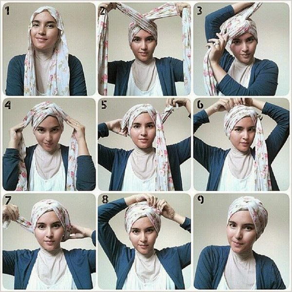Turban step by step instructions