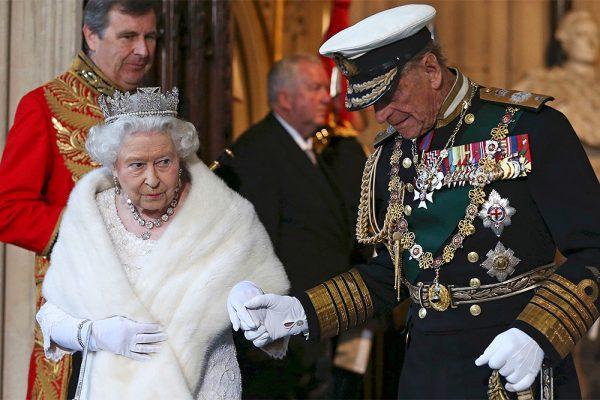 принц Филипп, королева Елизавета,
