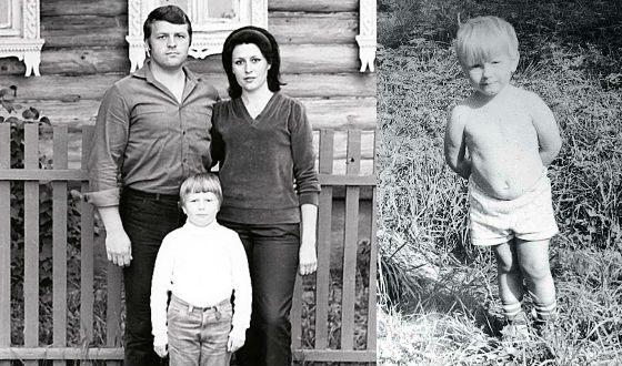 Николай Басков в детстве с родителями