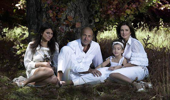 Игорь Крутой с женой и дочерьми