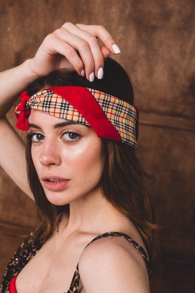 Women's plaid bandana