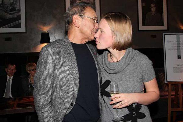 Андрей Кончаловский с внебрачной дочерью Дарьей