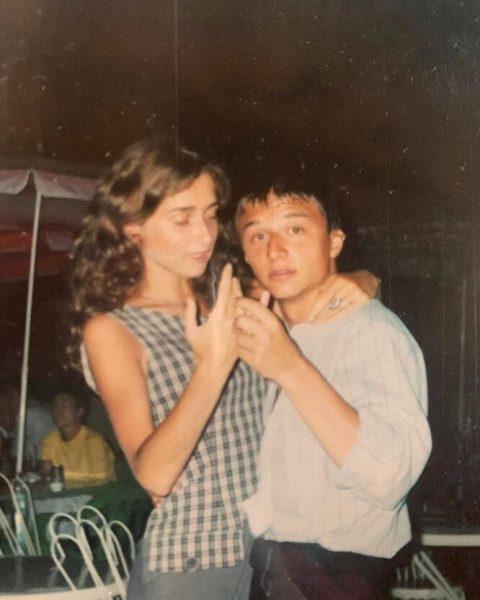 Максим Лагашкин с женой в молодости