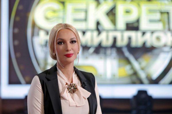 Лера Кудрявцева с яркой помадой
