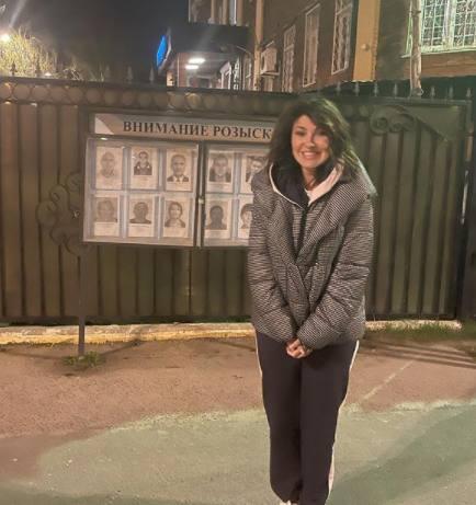 Анастасия Макеева в полиции