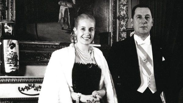 Эва Перон с мужем