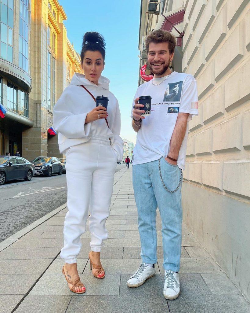 Тина Канделаки с сыном Лео