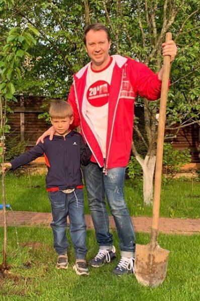 Евгений Миронов с сыном