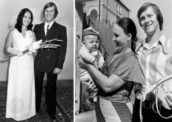 Надежда Бабкина с первым мужем и сыном