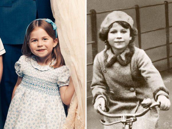 Принцесса Шарлотта и королева Елизавета в детстве. Фото marieclaire.ru