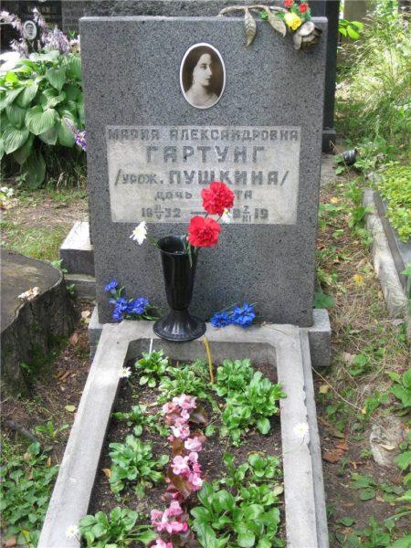 Памятник Марии Гартунг